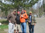 Boundary Waters, Minnesota - the float team, Berkly, José, Cameron, and Greg.