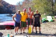2013 Camping float trip, José, Eric, Cameron, and Greg.