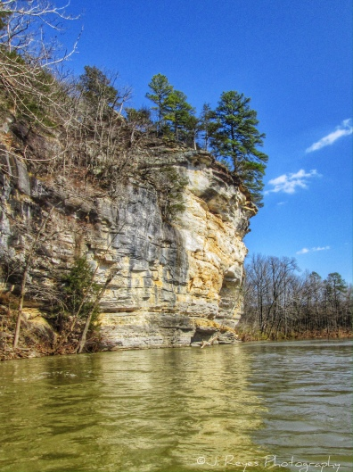 Nice bluff. The river level was high.