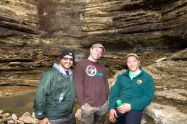 The team at Angel's Fall, Buffalo River, Arkansas.