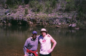 The trip that started all, Me and Berk on our initial picture in the drop off zone of the Jack Fork River.